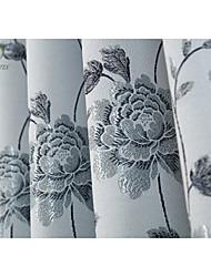 um painel azul flor cortina jacquard