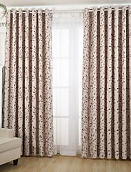 um painel roxo folha jacquard cortina