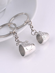 Alloy Wedding/Leisure Lovely Fashion Cup Couple Key Chains 1 Pair