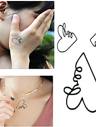 Hollow Love in Heart Tattoo Stickers Temporary Tattoos(1 Pc)
