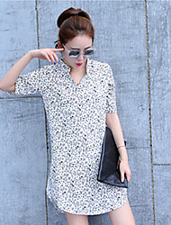 Women's Casual/Party/Work Short Sleeve Dresses (Chiffon)