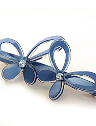 Fancy Wholesale Barrette for Women,High Quality Butterrfly  Hair Clip of Acetate and Austrian Rhinestone