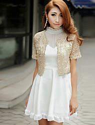 Wedding Wraps Boleros Short Sleeve Lace/Polyester Party/Casual Boleros Black/White/Pink/Almond Bolero Shrug