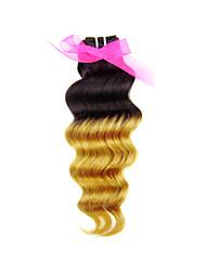 """Pc 1 lotto 8 """"-24"""" capelli vergini peruviani # 27 dell'onda profonda capelli ricci umani bundle estensione dei capelli"""
