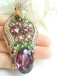Women Accessories Gold-tone Multicolor Rhinestone Crystal Brooch Art Deco Penguin Brooch Scarf Pin Women Jewelry