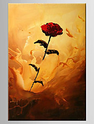 Oil Painting Rose FlowerHand Painted Canvas with Stretched Framed