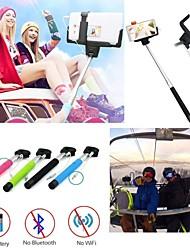 nova monopé remoto com fio extensível selfie vara para o telefone com android&câmera auto-retrato sem bateria ou wi-fi necessário