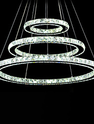 LED Crystal Pendant Light Modern Chandelier Lighting Lamps Cool White Round Ceiling Lights Fixtures 203040