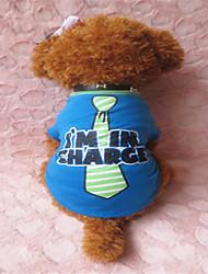T-shirt für Hunde Blau Sommer XS / S / M Baumwolle