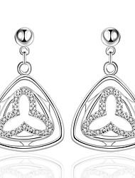 Brinco Triangular Jóias 1 par Fashion Casamento / Pesta / Diário / Casual / Esportes Prata Chapeada Feminino Prateado