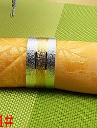 6pcs de cobre de 25 mm de oro en relieve intermedia anillo de servilleta en forma de corazón