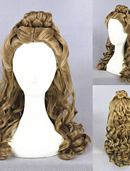 22inch Medium Long Wave Cinderella Wig Brown Synthetic Anime Cosplay Hair Lolita Wig CS-250A