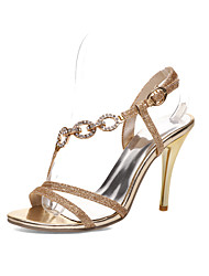 Women's Shoes Stiletto Heel Pointed Toe Sandals Dress Silver/Gold