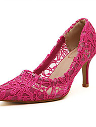 Women's Shoes Lace Stiletto Heel Pointed Toe Pumps Dress More Colors available