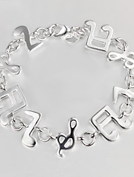 Casual Silver Plated Charm Bracelet