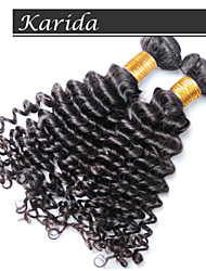 No Shedding, No Tangle Virgin Hair Extension, Brazilian Deep Wave Virgin Hair