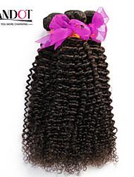 """3 Stück lot 12 """"-30"""" unverarbeitete peruanische verworrenes lockiges reines Haar Einschlagfäden natürliche schwarze 1b # raw remy"""