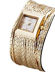 ASJ Mujer Reloj de Moda Reloj de Pulsera Reloj Pulsera Japonés Cuarzo Resistente al Agua Rosa Oro Plateado Banda Cosecha CasualPlata