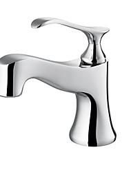 badkamer wastafel kraan in moderne stijl enkel handvat één gat warm en koud water kraan