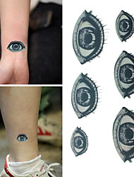 Vivid Sadness Eyes Tattoo Stickers Temporary Tattoos(1 Pc)