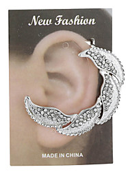 Diamond Alloy Of Gold And Silver Bright Color Fashion Earrings
