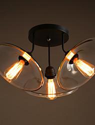 Vintage Flower Shaped Glass Ceiling Lamp Edison Bulb Decorative Ceiling Lamp For Living Room
