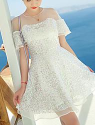Women's Sequins Splicing Princess Dress