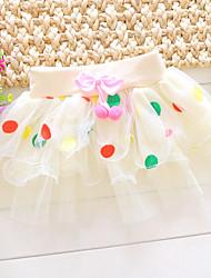 Girl's Summer/Spring/Fall Micro-elastic Medium Skirts (Cotton Blends)
