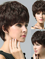 100% Human Hair Wig Top Quality Capless Super Natural Short Curly Black hair Wigs