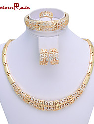 WesternRain Charms Style Dubai 18K Gold Plated Jewelry Chunky Necklace Set Designer Vintage Women Jewelry Set