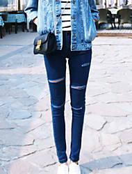Women's Dark Hole Waist  Jeans