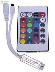 RGB Strip Light 24-Key 72W Dimmable/Infrared Sensor Remote Switch Control Range 15M (DC12V)
