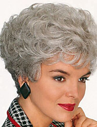 Europe And The United States   Sell Like Hot  Cakes Old Silver Short Curly Wig