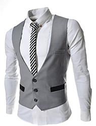 JOGAL Mens Premium Layered Style Slim Vest Waist Coat