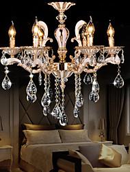 Chandelier Crystal  Zinc alloy Luxury Modern 6 Lights