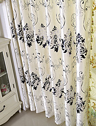 One Panel Sitting Room Flannelette Stick A Mosaic Gold Europe Style Curtain