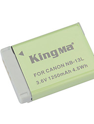 KINGMA NB-13L Replacement 3.6V 1250mAh Li-ion Battery for Canon PowerShot G7 X - Grey + Green