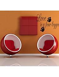 l'amour est un mot à quatre pattes stickers muraux de devis bricolage zooyoo8066 salon vinyle amovible stickers muraux décoration de la