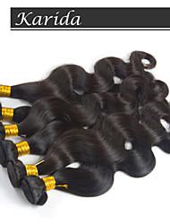 Qualité supérieure cheveux pas cher de 12-30 pouces tissage brésilienne de cheveux humaine couleur naturelle vague de corps
