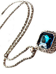 New Arrival Fashional Hot Selling Retro Geometric Gem Long Necklace