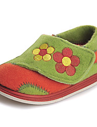 Girls' Shoes Outdoor/Athletic/Casual Comfort/Round Toe/Closed Toe Fabric Slippers Green