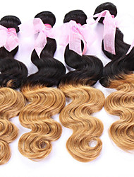 """3pcs / lot, 12 """"24"""" capelli vergini brasiliani, colore 1b / 27, estensioni dei capelli ombre, fabbrica dei commerci all'ingrosso dei"""