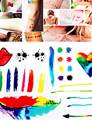 Tattoo Stickers Non Toxic/Tribal/Hawaiian/Lower Back/Waterproof Others Women/Men/Adult Multicolored Paper   S002