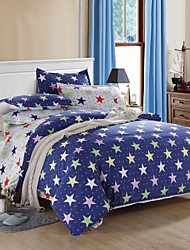 Mingjie Stars Blue Sanding Bedding Sets 4pcs Duvet Cover Sets Bed Linen China Queen Size and Full Size
