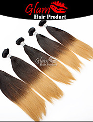 "3 Pcs 12""-22"" Brazilian Hair Straight Ombre #1B/#613 Good Restyled Soft Smooth Feeling Hair Extensions"