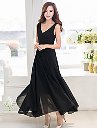 Women's Beach / Casual / Maxi Dress Maxi Chiffon
