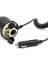 12V-24V Dual Usb Car Socket Charger Power Adapter