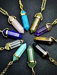 Feminino Colares com Pendentes Cristal Cristal Ágata Turquesa Liga Moda # 7 # 8 # 9 # 10 verde fosco Jóias Para Diário Casual 1peça