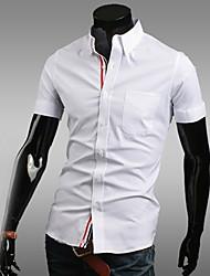 Informeel/Zakelijk Shirt Kraag - MEN - Vrijetijds shirts ( Katoenmengeling )met Korte Mouw