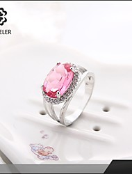 Fashion Platinum Plated Statement Zircon Ring